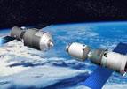 中国航天器空间对接想象图