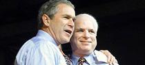 将麦凯恩与布什绑一起