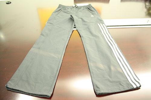 adidas三条纹长裤 红色运动衫