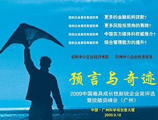 2009中国最具成长性新锐企业奖评选暨投融资峰会