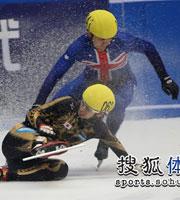 短道速滑世界杯,2009-2010短道速滑世界杯,王��,短道速滑,温哥华冬奥会,短道速滑冲金,王�鞒褰�