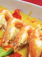 美食厨房,广州金椰雨林餐厅,海南菜,广州美食,咖喱虾,美食图片