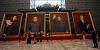 领导人巨幅油画亮相亮相首博吸引群众