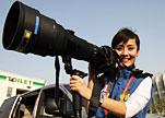 最美女记者跟拍刘翔