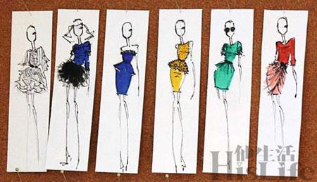 时装设计_时装设计手绘图_环保时装秀服装设计