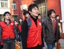 志愿者走进社区宣传