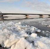 黄河出现大范围冰凌