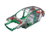 进口Mazda3两厢车身框架