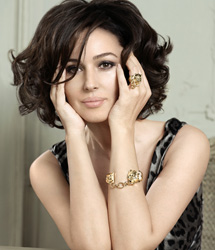 Monica Bellucci佩戴卡地亚豹系列珠宝