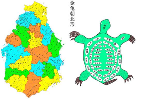 从19世纪初的版图看,中国像一片大桑叶,而相邻的日本却像是一只贪婪的蚕虫,这就形成了蚕虫吃桑叶的格局。所以,历史上有日本人两次侵略台湾,山河为之蚕食,人民备受苦难的经历。1946年1月5日,外蒙独立。于是,中国的版图就发 生了本质的变化,由原来的大桑叶,变成了一只雄鸡,呈雄鸡报晓之势。这只雄鸡的两只脚,一个是海南岛,是中国的势;另一个是台湾岛,是中国的财。而日本的版图看起来仍是一只蚕虫,这就形成了雄鸡吃蚕虫的格局。可是,由于台湾岛现在 与大陆成分离的局势,所以,这只雄鸡看起来只剩下了一只脚,成了金鸡独
