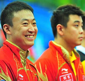 马琳,王皓,国乒,国乒男队,2010世乒赛团体赛
