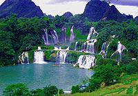 德天瀑布:跨国界的美丽