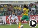 查巴拉拉左脚劲射死角 南非世界杯首粒进球诞生
