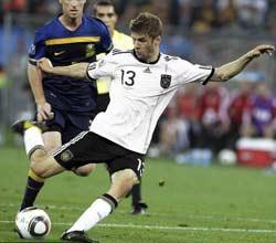 南非世界杯,德国VS澳大利亚,穆勒