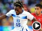 前国安悍将替补登场亮相 世界杯洪都拉斯VS智利