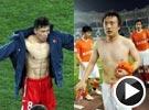 朝鲜球员8块腹肌清晰可见 身体素质超中国男足