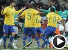 法比亚诺手球破门卡卡染红 巴西3-1胜科特迪瓦