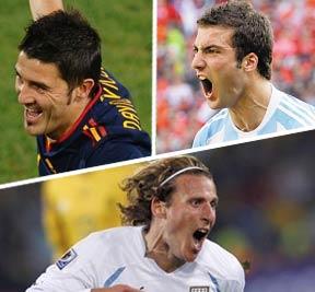 比利亚,伊瓜因,弗兰,南非世界杯