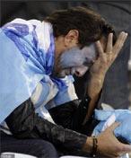 阿根廷球迷痛哭