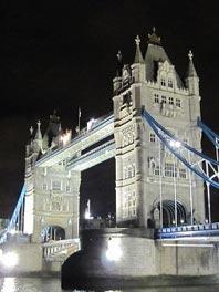 夜幕下的伦敦桥
