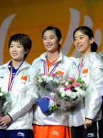 汪鑫,王琳,王适娴,2010羽毛球世锦赛