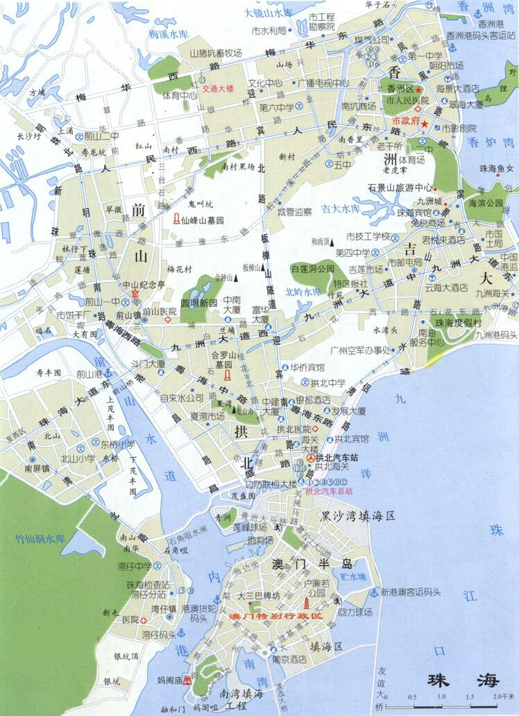 点击下载珠海旅游地图