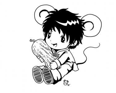 动漫 简笔画 卡通 漫画 手绘 头像 线稿 376_300