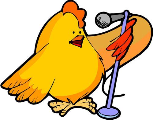 鸡身上的花纹卡通
