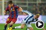 视频集锦-比利亚梅西进球表演 巴萨5-0皇家社会
