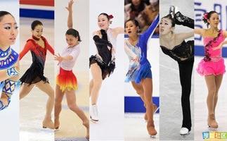日本花滑七仙女冰上比拼魅力不逊金妍儿