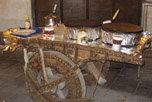 多哈做美食的三轮车