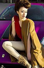 美女与超跑的时尚大片