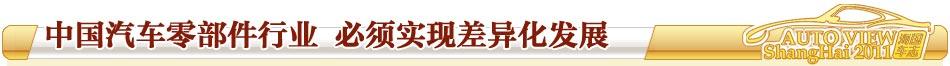 中国零部件行业 必须实现差异化发展