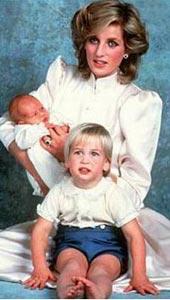 戴安娜王妃与威廉王子和哈里王子