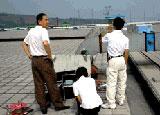 美芝公司邀请环境检测机构对污水、废气、噪声惊醒检测