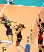 巴西女排3-0横扫韩国