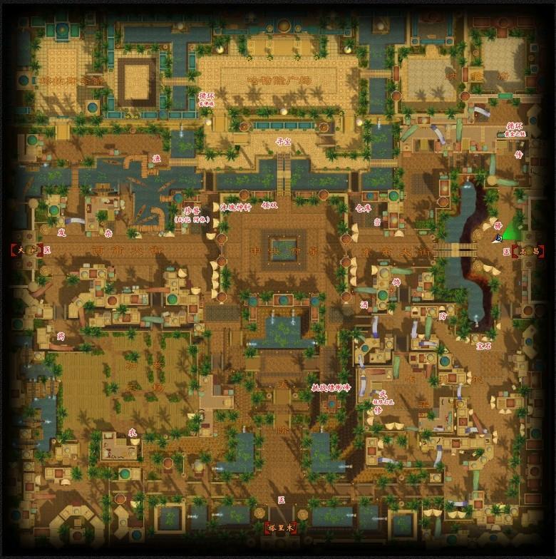 苏州城地图-城市地图-游戏资料-《新天龙八部》官方