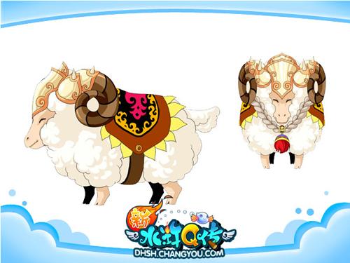 毛茸茸的外表,一笑就眯成一条线的眼睛,这就是温顺可爱的小绵羊&mdash