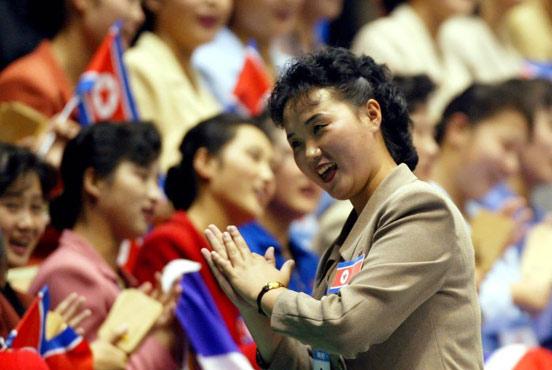 朝鲜美女拉拉队