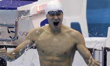 中国男泳金牌零突破 400米自由泳孙杨夺冠