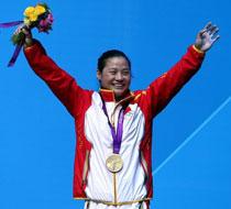 举重女子58公斤级 李雪英夺冠