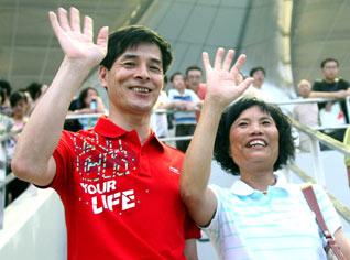 吴敏霞的父母