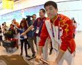 刘翔抵达伦敦进驻奥运村