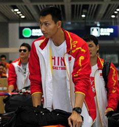 中国男篮回国