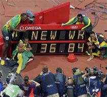 牙买加打破男子4x100接力世界纪录