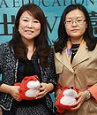 朴泰仙(樱知叶教育集团总裁),孙丽(威斯康星国际高中联盟中国首席代表),量体话留学