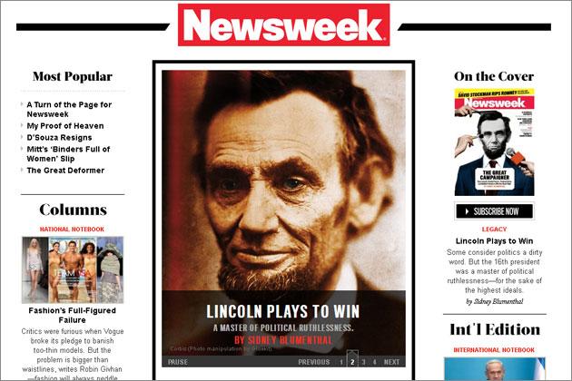 有80年历史的《新闻周刊》宣布2012年12月31日将发行最后一期印刷版