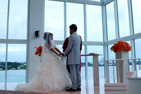 水晶教堂中的幸福婚礼
