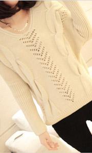 欧美套头镂空针织衫