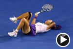 李娜两度扭伤坚持比赛 负阿扎伦卡无缘澳网冠军